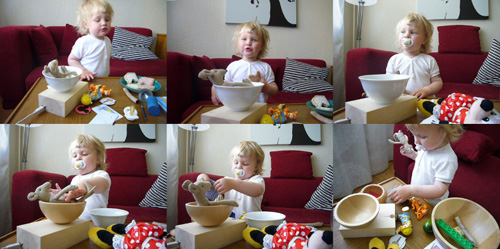 Playful activities around the TV